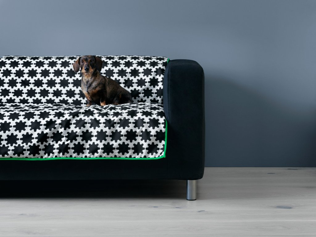 This is a scaled down version of Klippan sofa, a famous IKEA piece