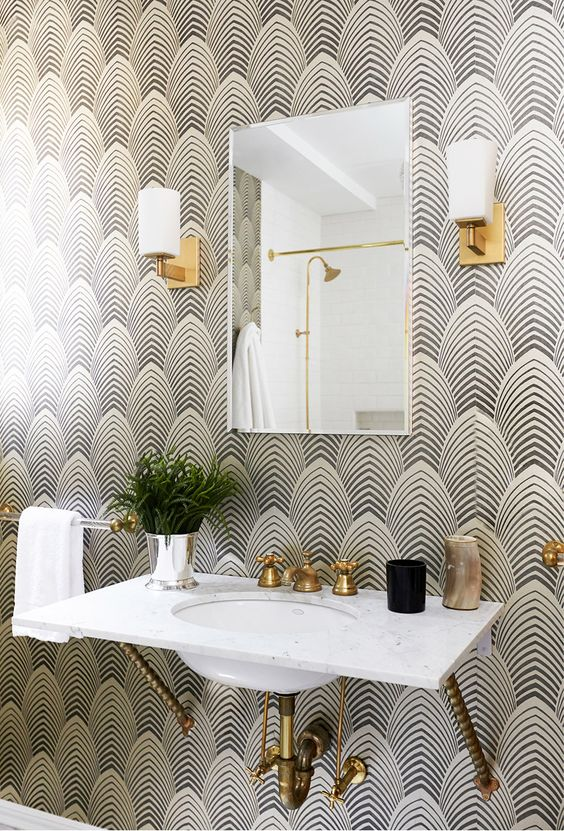 3 Tips And 23 Examples To Create An Art Deco Bathroom Digsdigs
