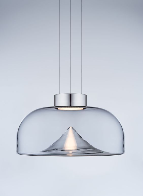 pendant lamp combining technology and Venetian glass and looks very interesting