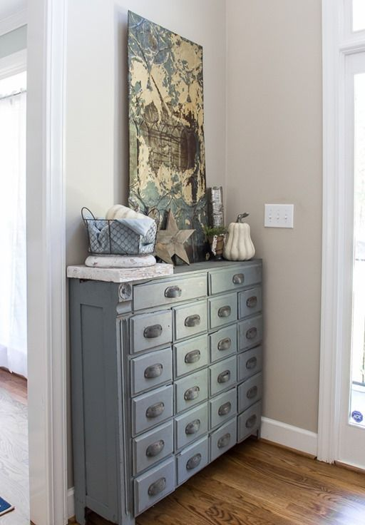 Painted Console Table Entryway