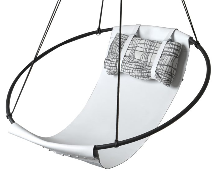 This hammock-like chair is suitable for indoors and outdoors