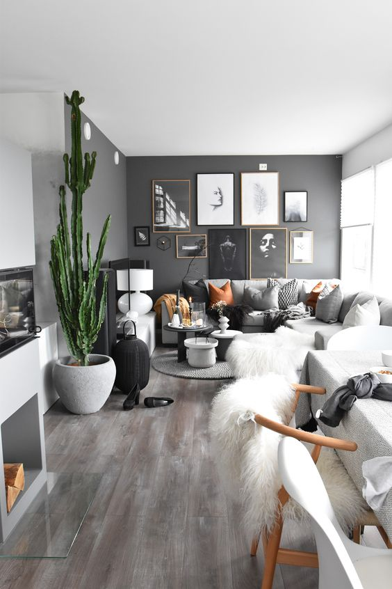 26 gorgeous living rooms with black walls digsdigs Room with black walls