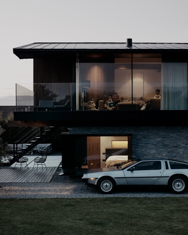 Enjoying the views is easy, and if the owners need privacy, they can use curtains for that