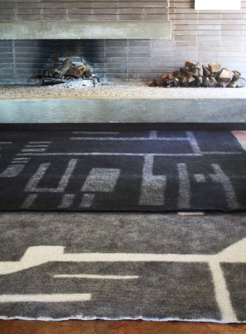 Rahita rug in black and white will fit modern monochromatic spaces