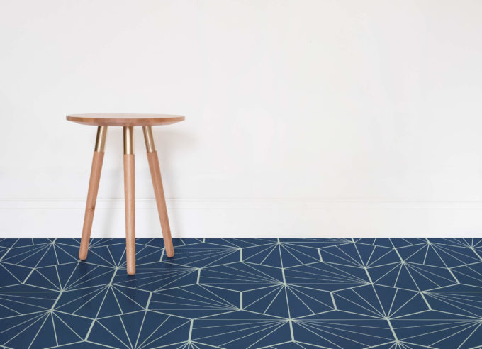 Starburst in navy color reminds of the finest designs and looks of mid-century modern style