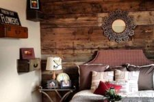 using vintage suitcases for storage in a bedroom