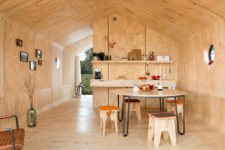 cute plywood small kitchen design