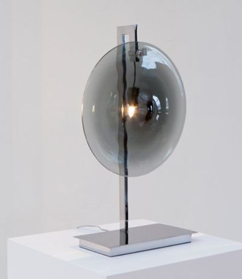 grey glass Orbe lamp looks veyr interesting and modern and will fit most of modern interiors