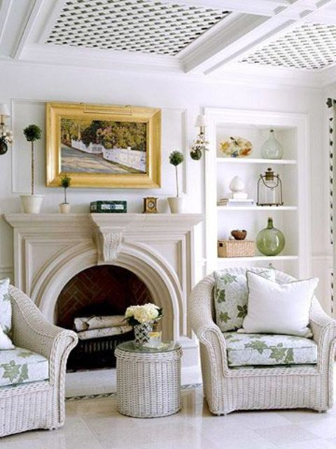 white wicker furniture will perfectly fit a neutral interior and add a farmhouse feel