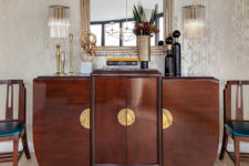 13 The furniture is very elegant, eye-catchy and with chic brass touches
