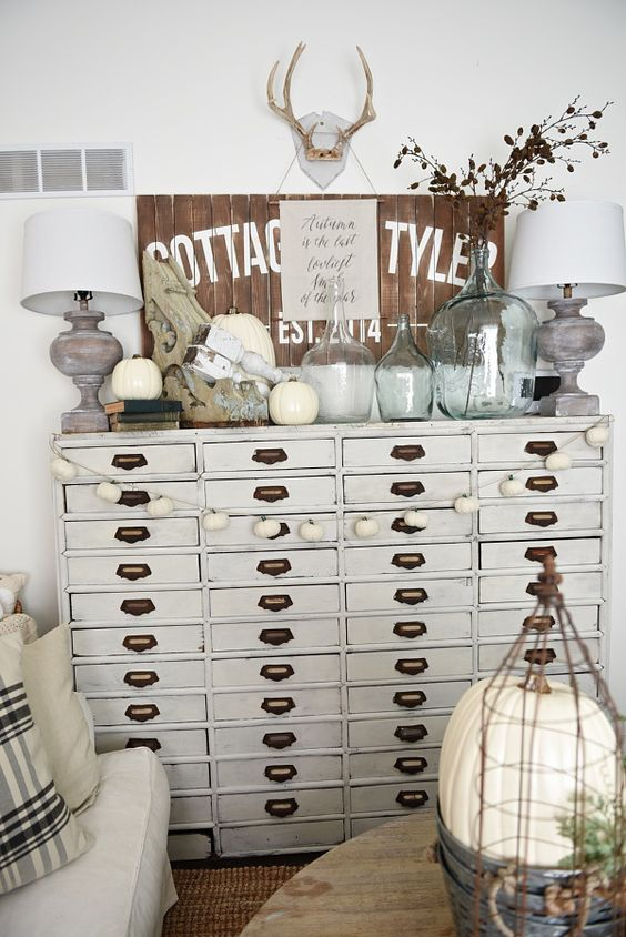A Neutral Apothecary Cabinet As A Living Room Console Table With Lots Of  Storage