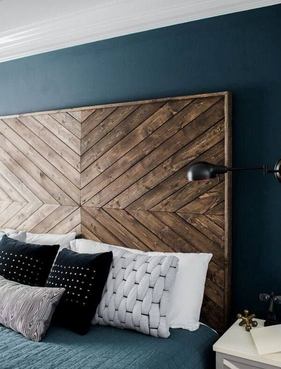 rough masculine wooden headboard