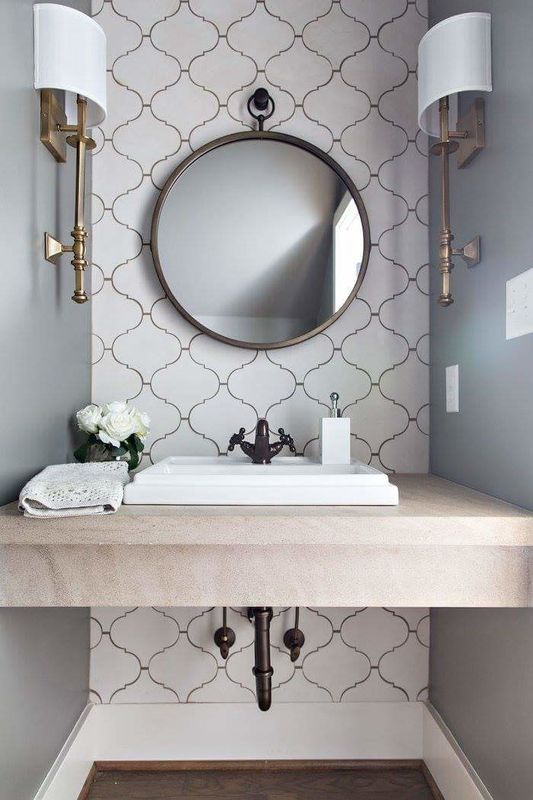 3 Tips And 27 Ideas To Design A Cool Powder Room DigsDigs