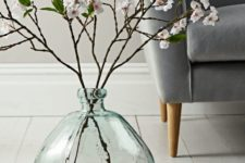 22 such a large clear glass vase is sure to make any arrangement a masterpiece