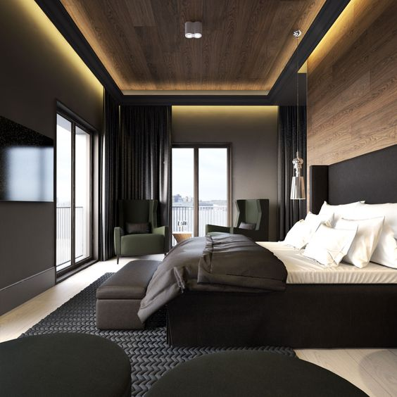 Wooden Bedroom Accessories Bedroom With Black Furniture Ideas Bedroom Design Ideas Hdb Normal Bedroom Ceiling Designs: 3 Tips And 25 Ideas For A Modern Bedroom