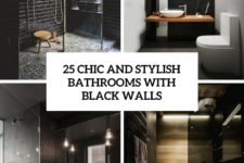 25 chic and stylish bathrooms with black walls cover