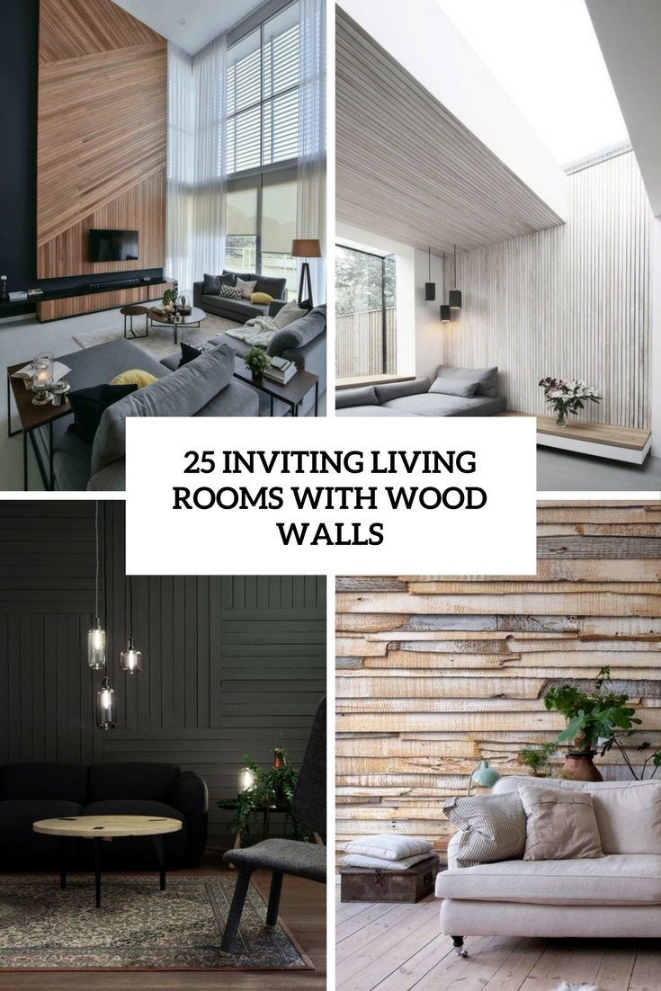 inviting living rooms with wood walls cover