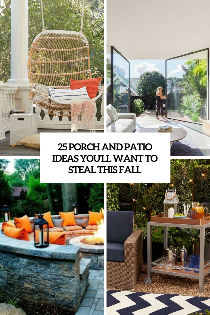 25 Porch And Patio Ideas You'll Want To Steal This Fall