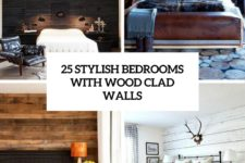 25 stylish bedrooms with wood clad walls cover