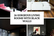 26 gorgeous living rooms with black walls cover