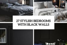 27 stylish bedrooms with black walls cover