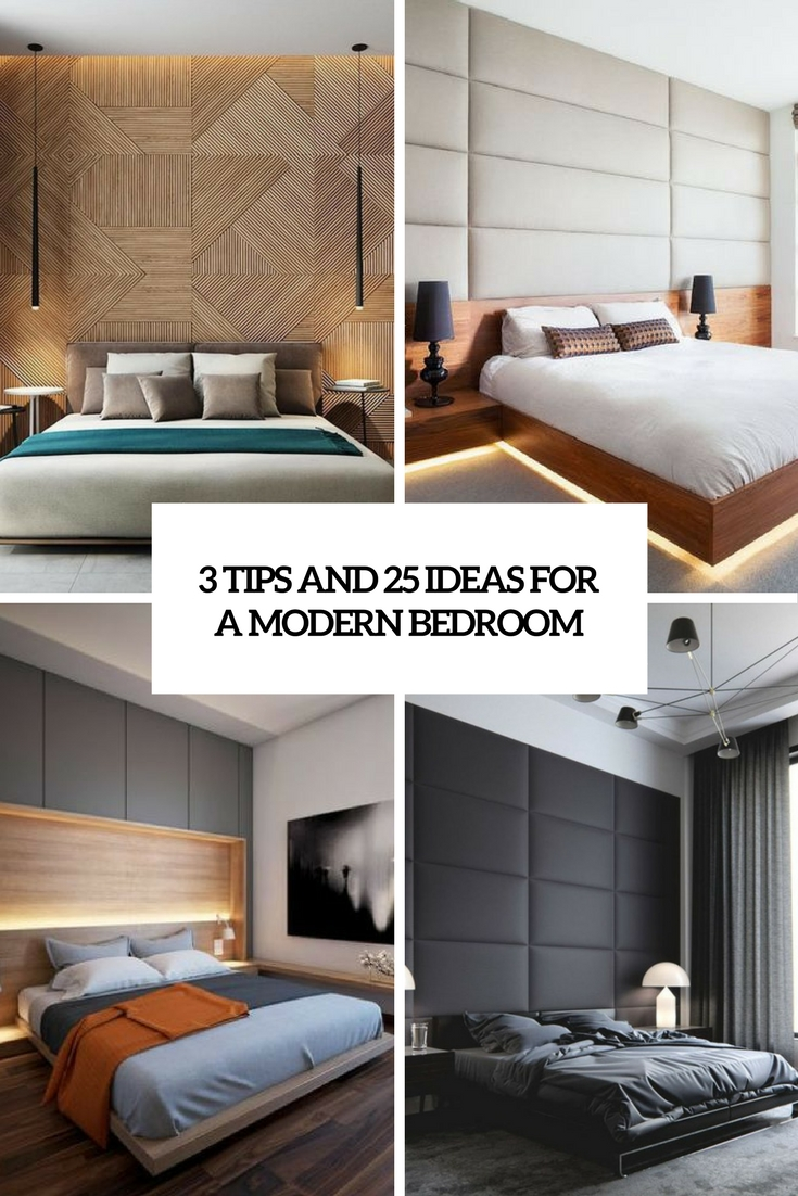 3 tips and 25 ideas for a modern bedroom cover
