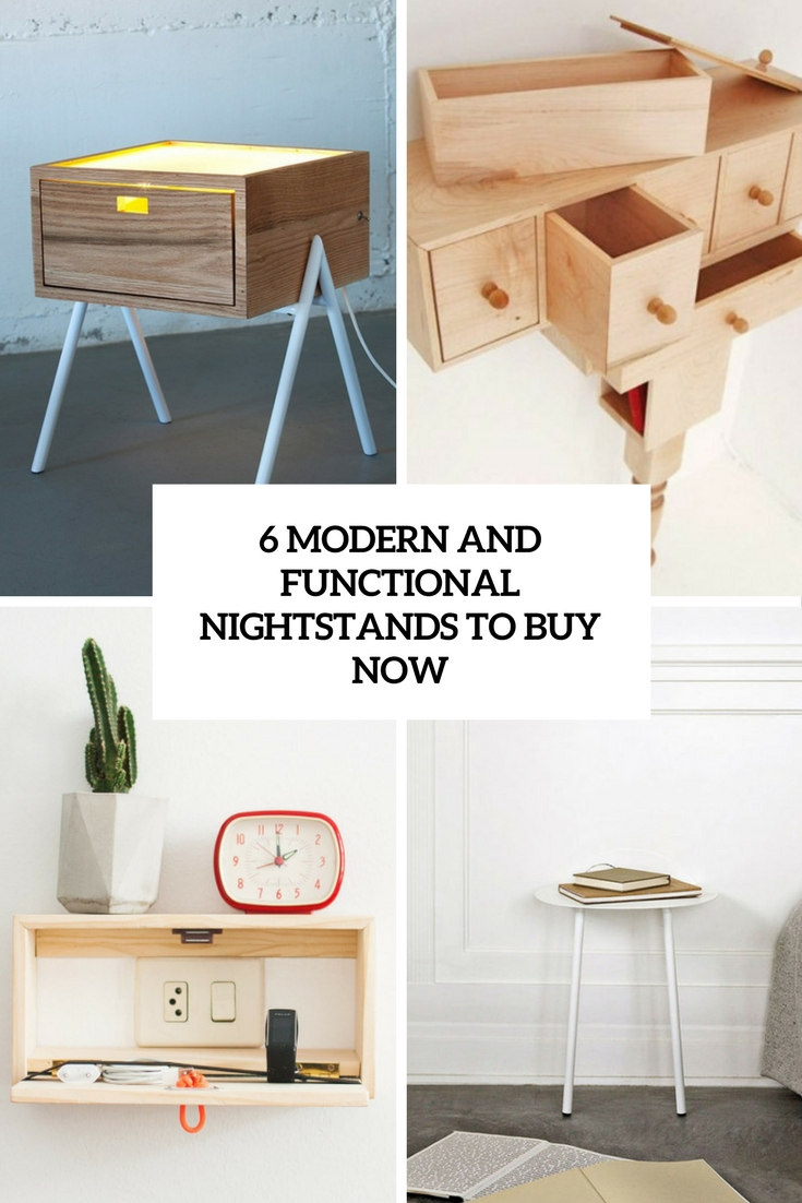 6 modern and functional nightstands to buy now cover