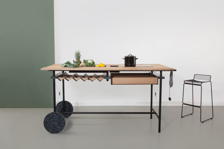 OIKOS kitchen island by May Kukula (via design-milk.com)