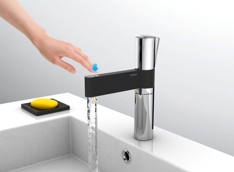 Spray Faucet by Mo Zhong Cai and Su HaiFeng (via www.yankodesign.com)