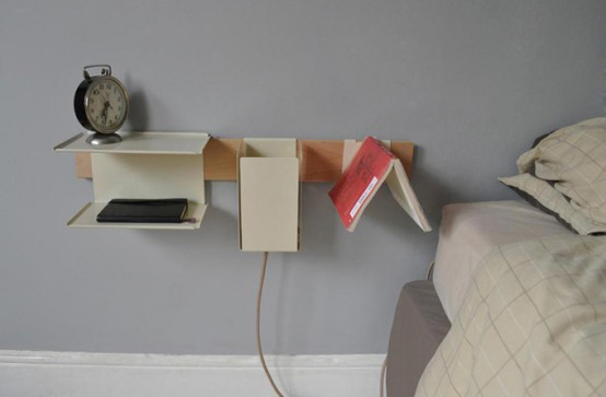 Pippin Bedside system with lots of storage (via www.digsdigs.com)