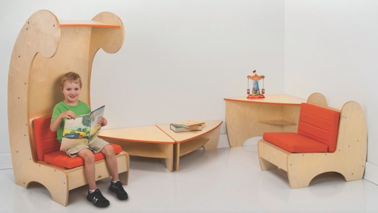 Contemporary Reading Chair Bookcase For Kids