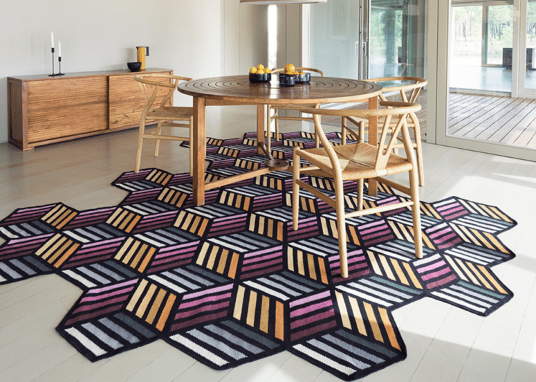 Colorful Geometric Parquet Rug Collection