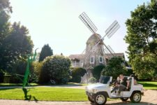 01 The Windmill House with a 15-foot praying mantis statue on the front lawn