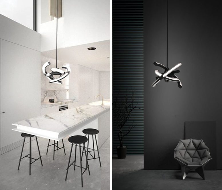 It's not only a sculptural luminaire but also a unique time-telling item for making a bold statement