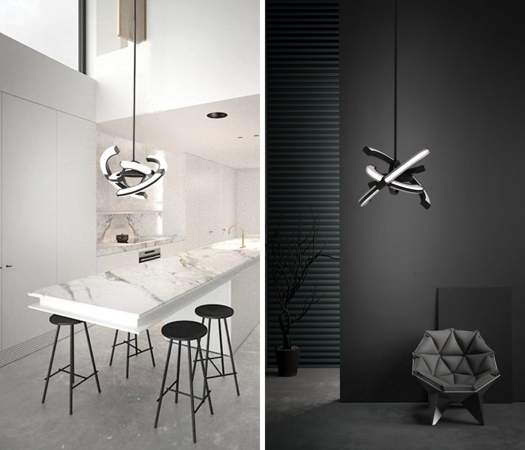 It's not only a sculptural luminaire but also a unique time telling item for making a bold statement