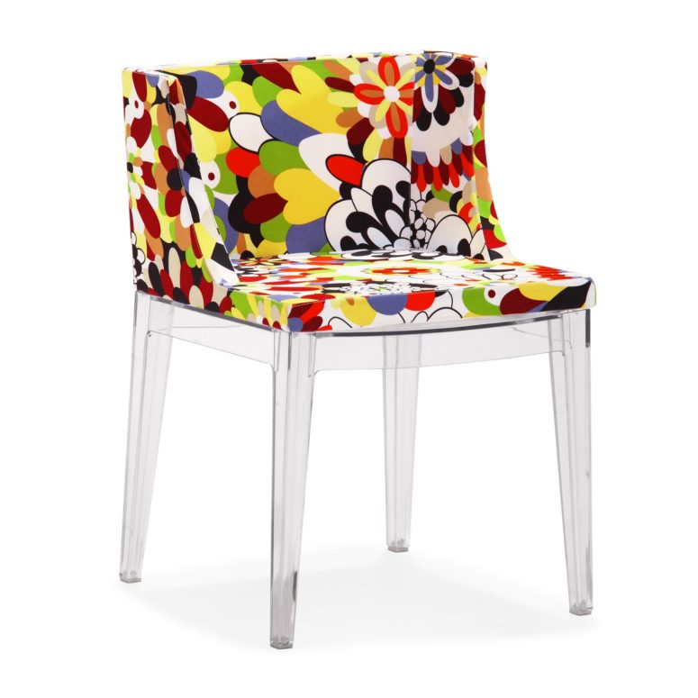 The colorful art floral print is characteristic of Italian and Spanish design