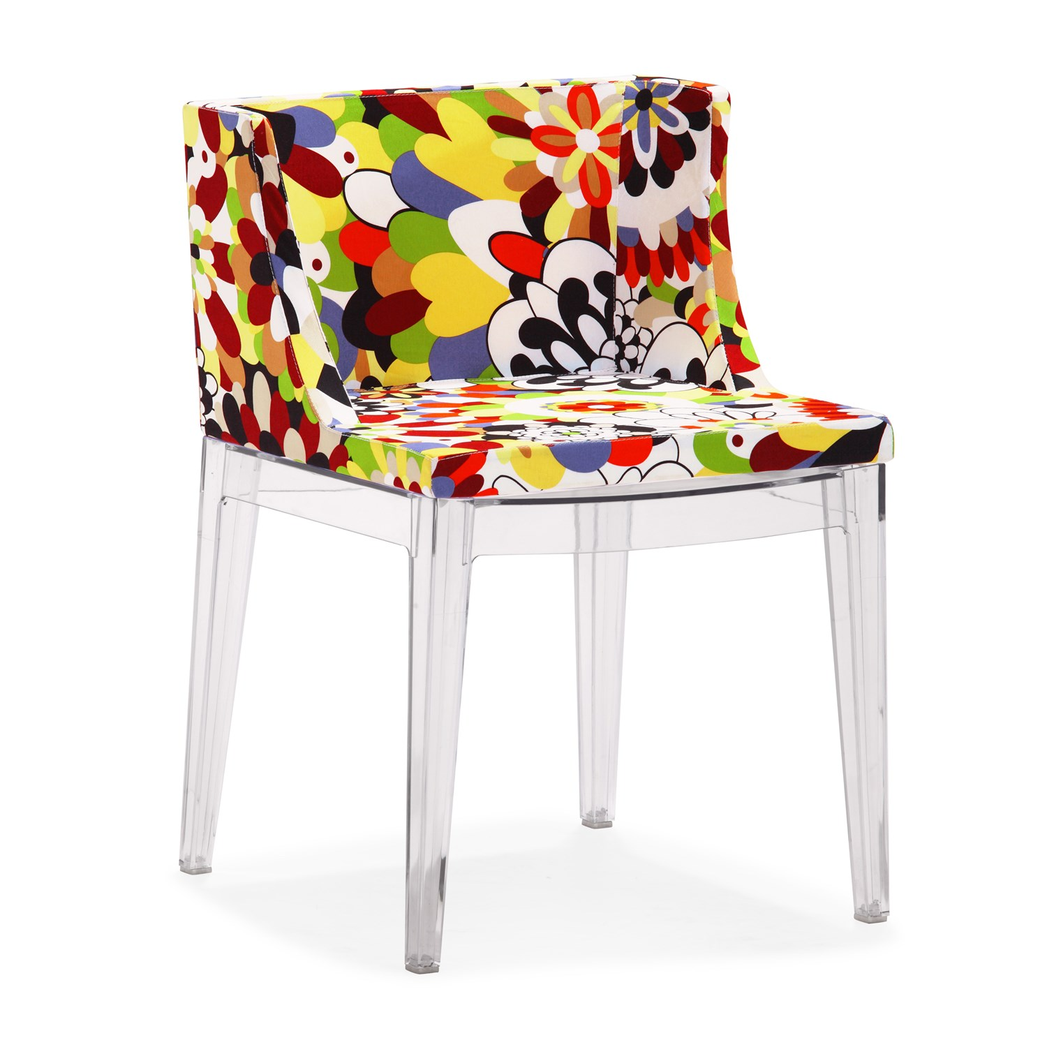 chair with floral prints