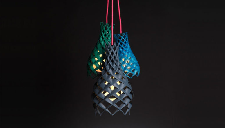 The lampshades remind of blooms opening to the sun, this shape is inspired by nature itself