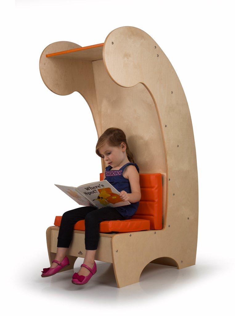 The design of the chair creates a separate and personal space for reading, and your kid is sure to love it