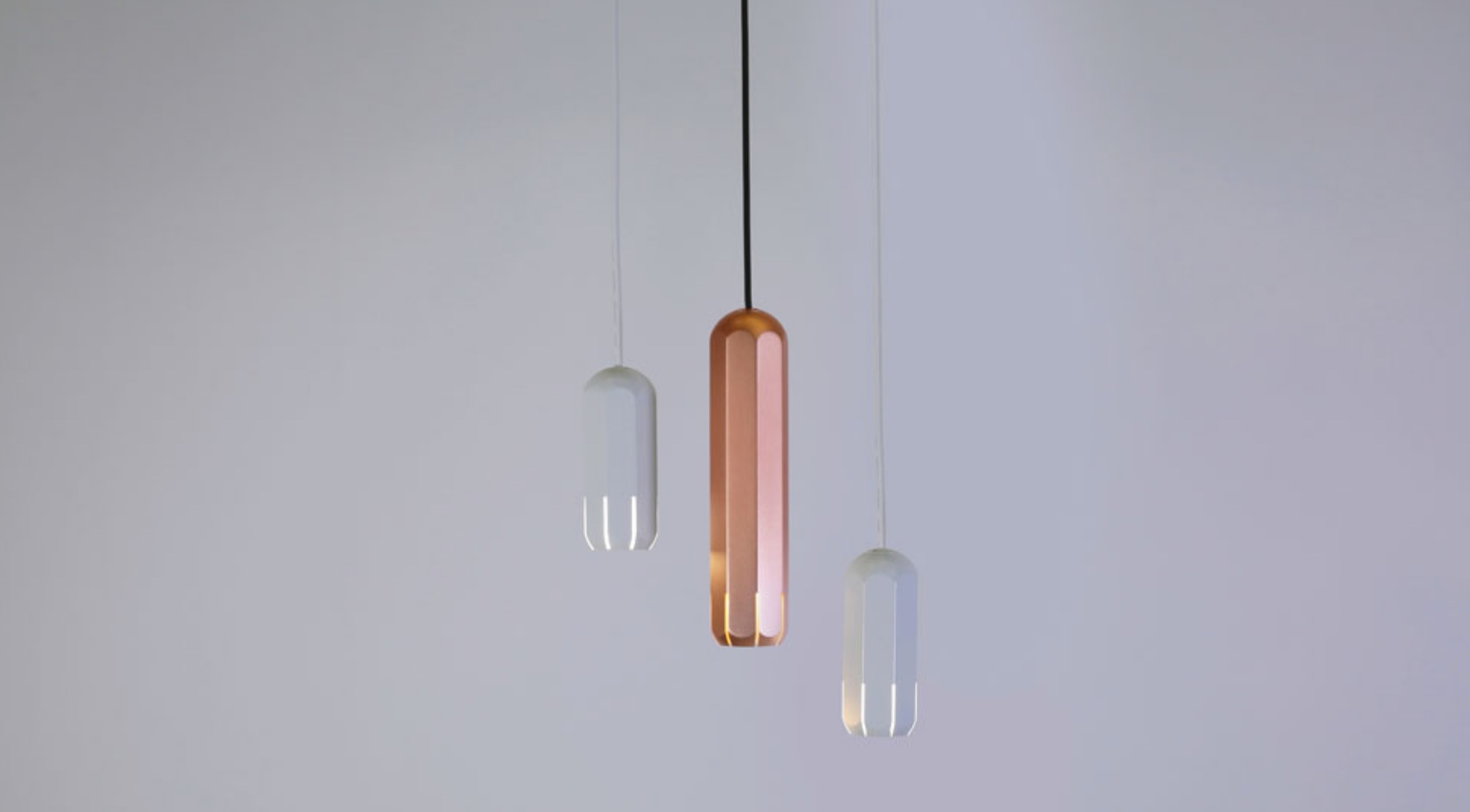 The lights are available in white, copper, graphite and you can rock them separately, in clusters and there are even chandelier versions