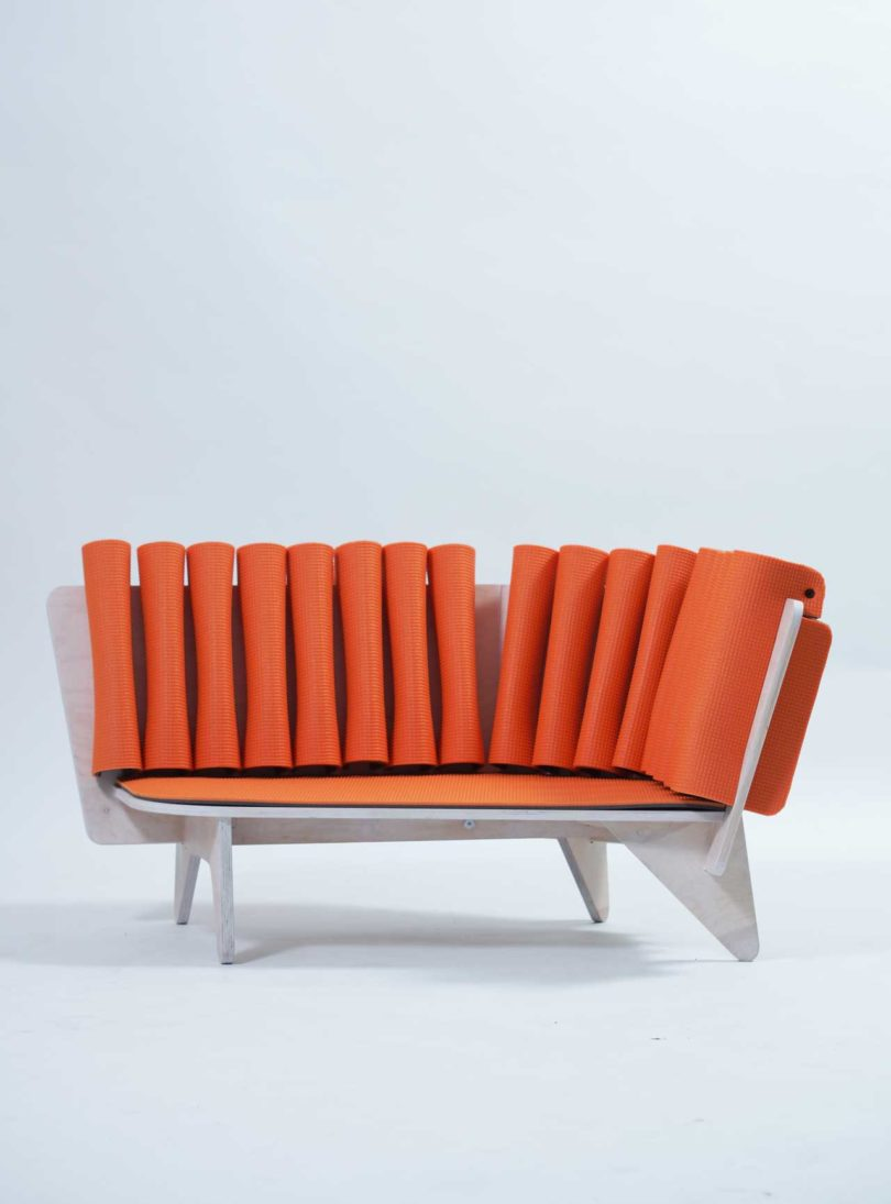 The piece is done in bold orange for a cool and fun look, which children like so much
