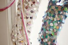 03 colorful large sequin stockings are a fresh and modern take on traditional ones