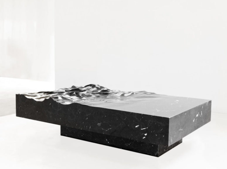 This is a larger version that may be used as a dining table for those who want something unique