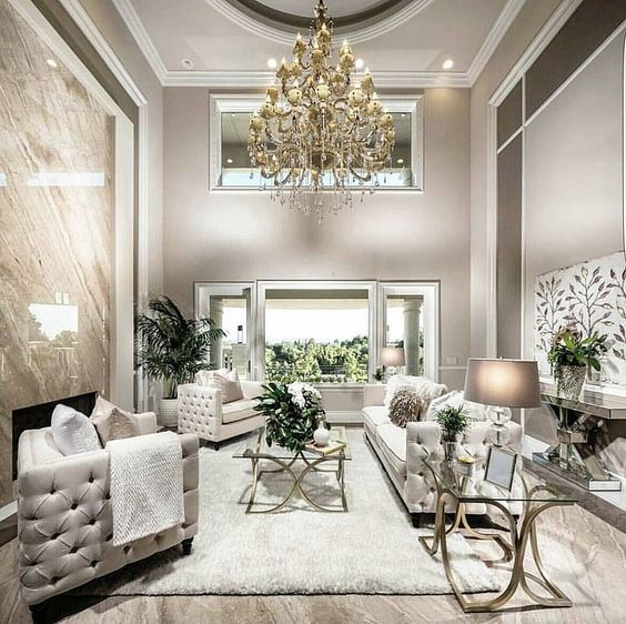 A Luxe Space In The Shades Of Grey Cream And Gold For Fantastic Ambience