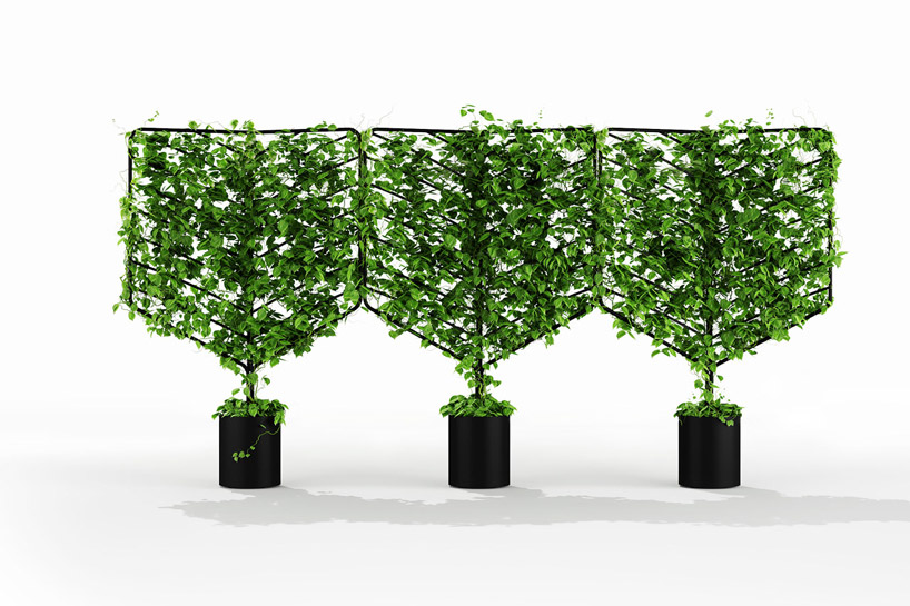 The botanical planter screens create rejuvenating refuges surrounded by the unobtrusive lightness of nature