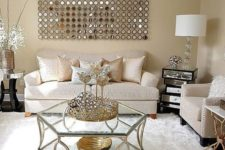 10 neutral shades and pure white are spruced up with shiny metallic touches
