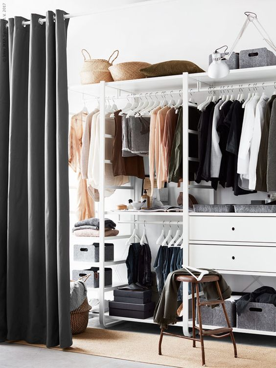 creative bedroom's closet