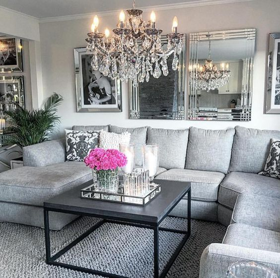 Gray Home Design Ideas: 25 Swoon-Worthy Glam Living Room Decor Ideas