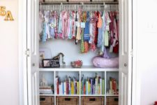 20 a built-in wardrobe with a plenty of storage for everything