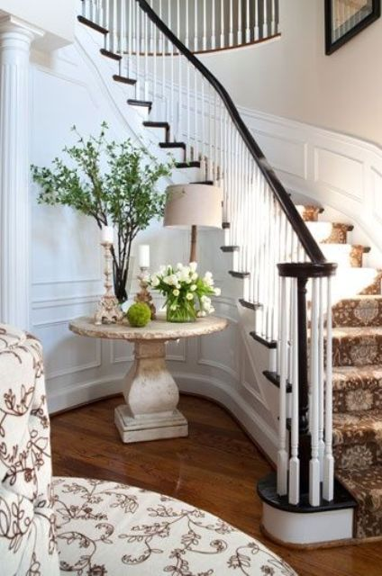 a small pedestal table in the entryway or an awkward corner is a cool idea for displays of any kind